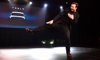 """Elon Musk's Custom Air Jordan 1 """"Tesla"""" Eclipsed the Model Y Unveiling"""