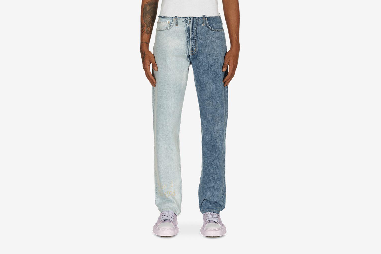Vintage Wash Raw Denim Pants