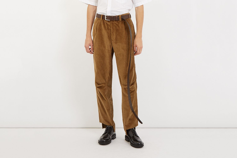 Darted-Knee Corduroy Trousers