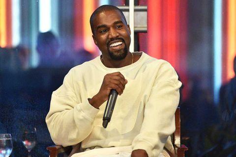 Kanye West being interviewed