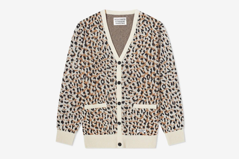 Leopard Jacquard Cardigan