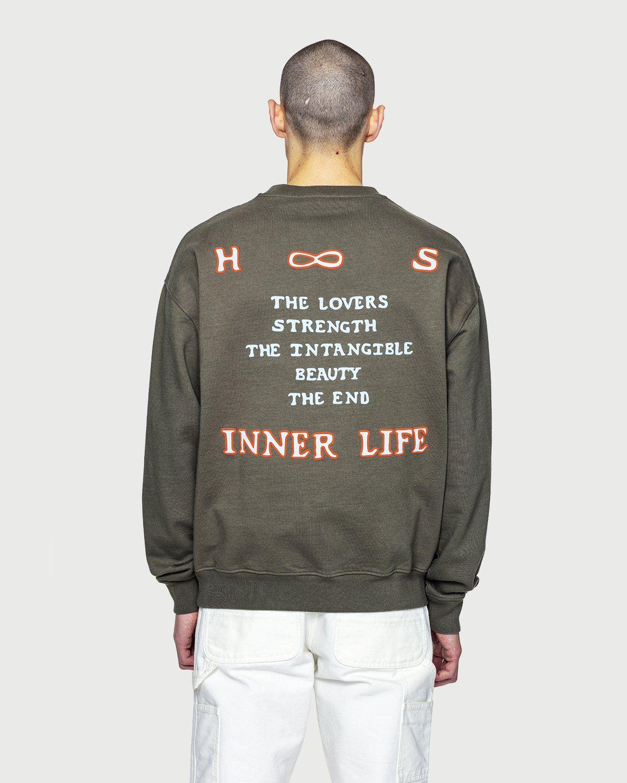 Highsnobiety — Inner Life Sweatshirt Light Military Green - Image 7