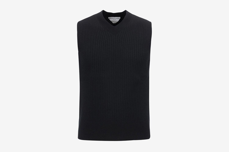 Mid Gauge Wool Knit Crop Vest