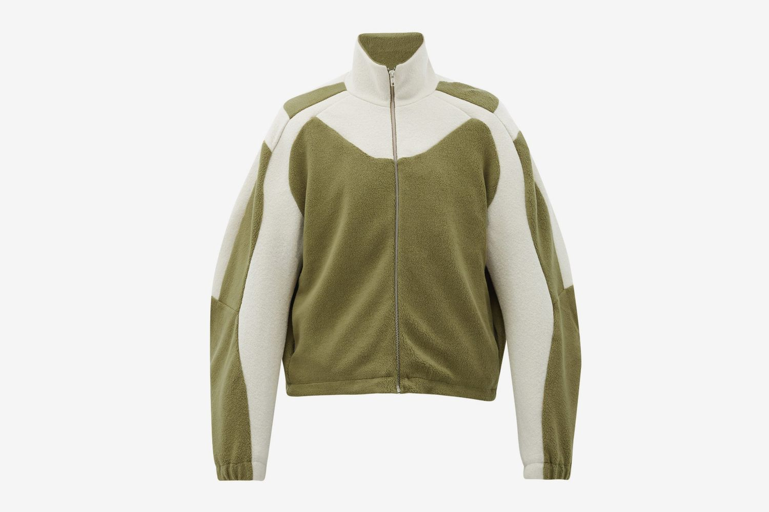 Bi-Colour Zipped Fleece Jacket