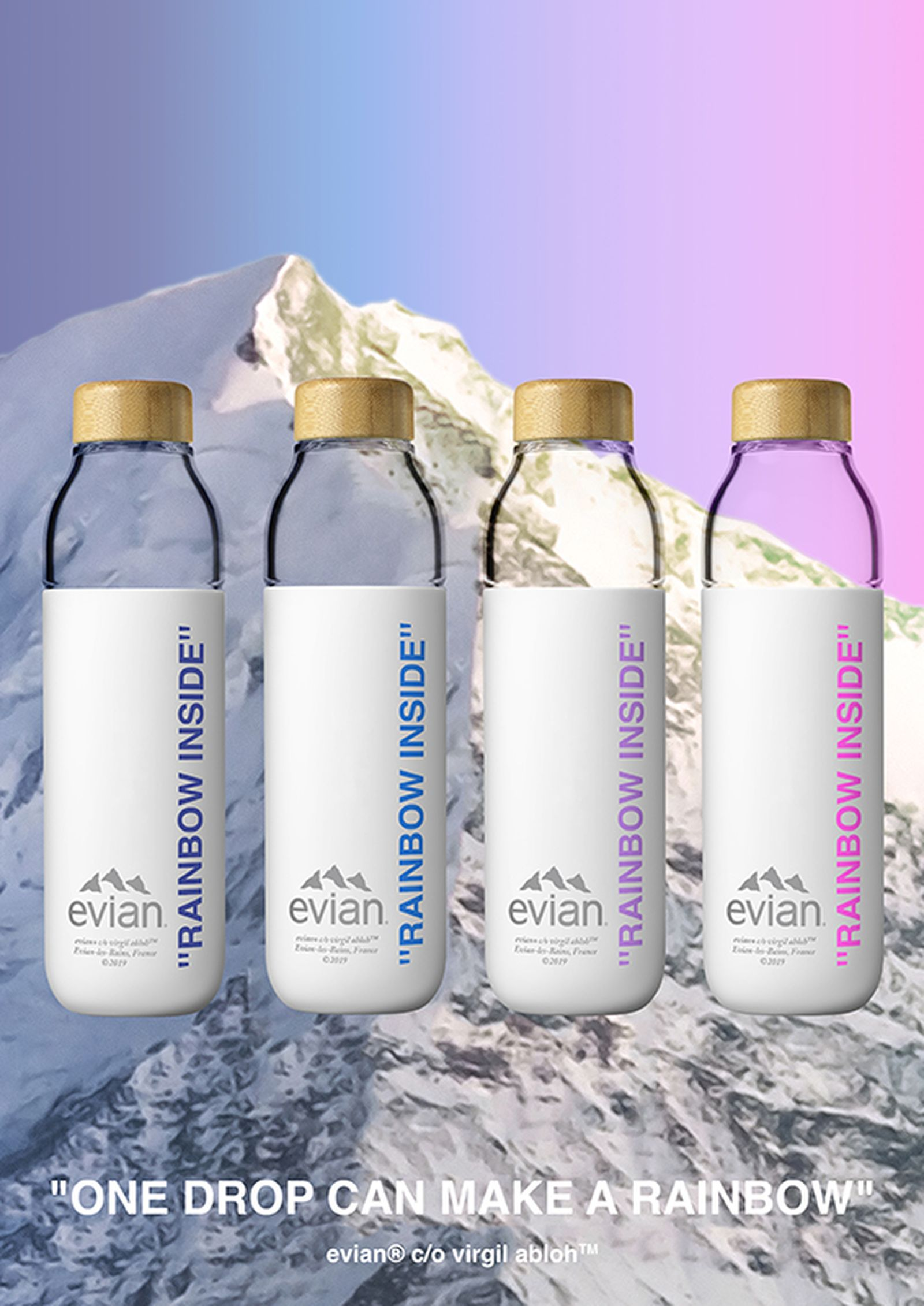 evian by virgil abloh water bottle Shia LaBeouf jonah hill soma