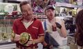 "Watch Bryan Cranston, Aaron Paul and Julia Louis-Dreyfus star in ""Barely Legal Pawn"""