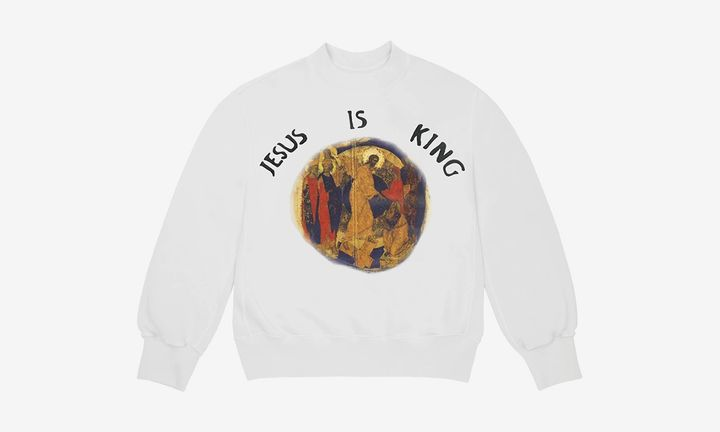 Kanye West Jesus Is King white crewneck sweatshirt