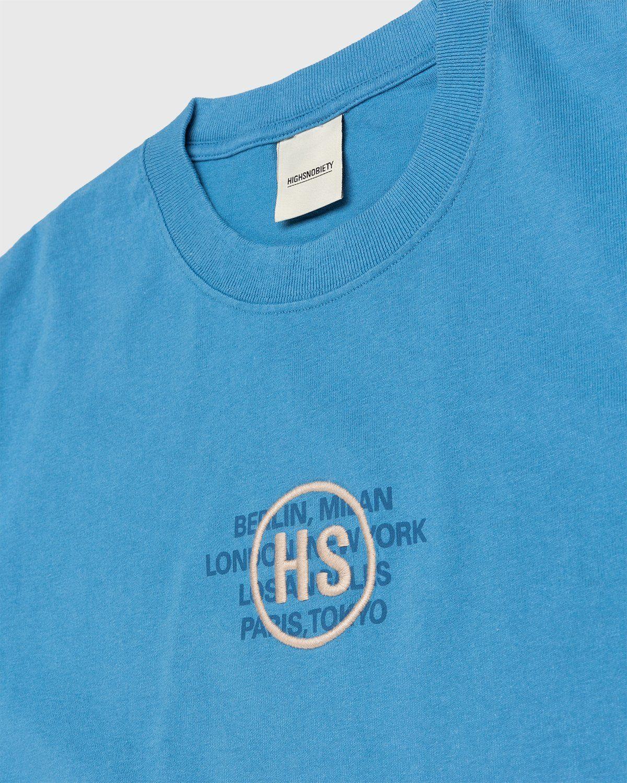 Highsnobiety – Logo T-Shirt Blue - Image 3
