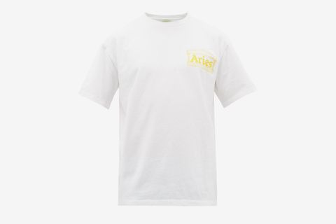 Temple Logo Cotton T-Shirt