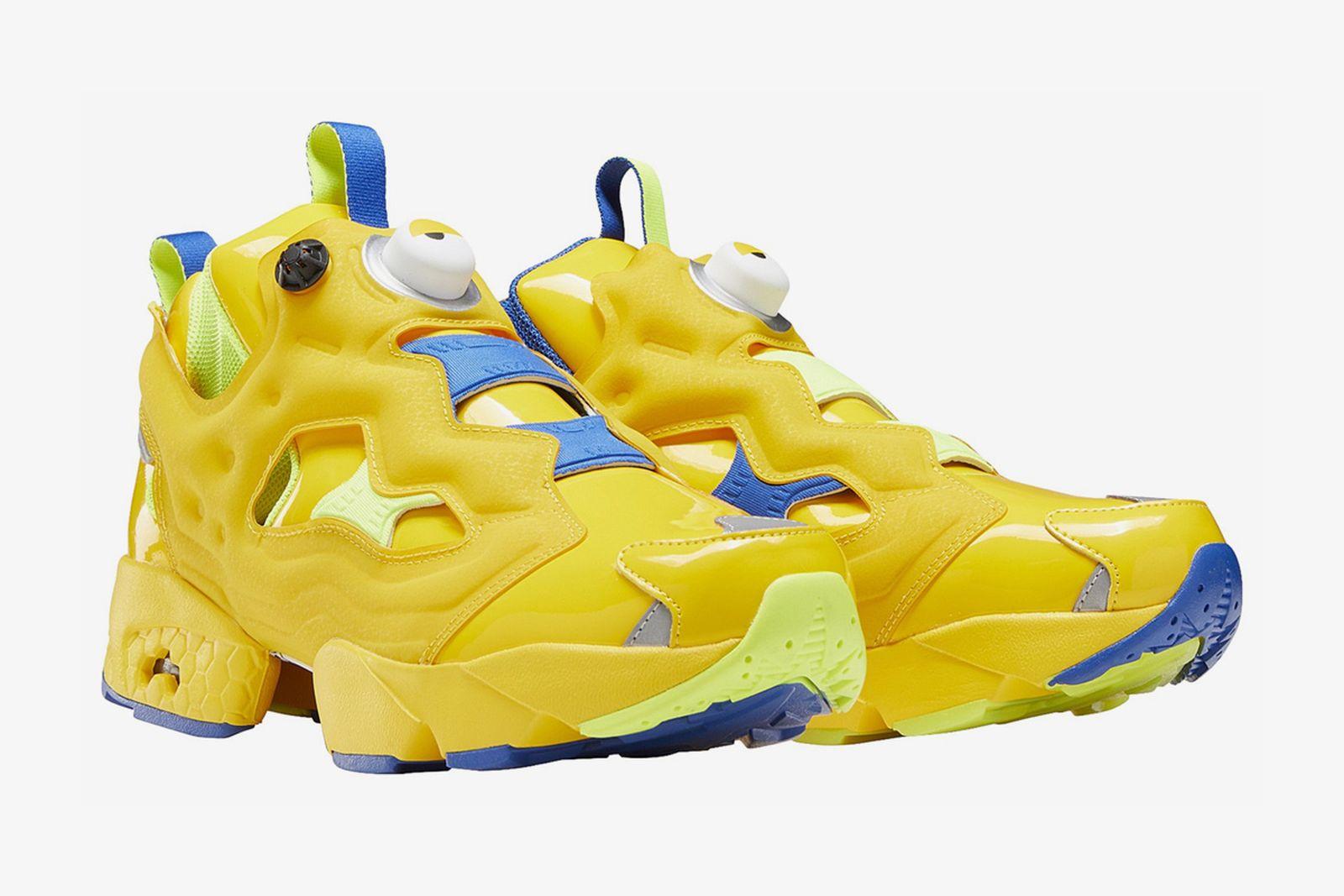 Yellow and blue Minion-themed Reebok Instapump Fury OG