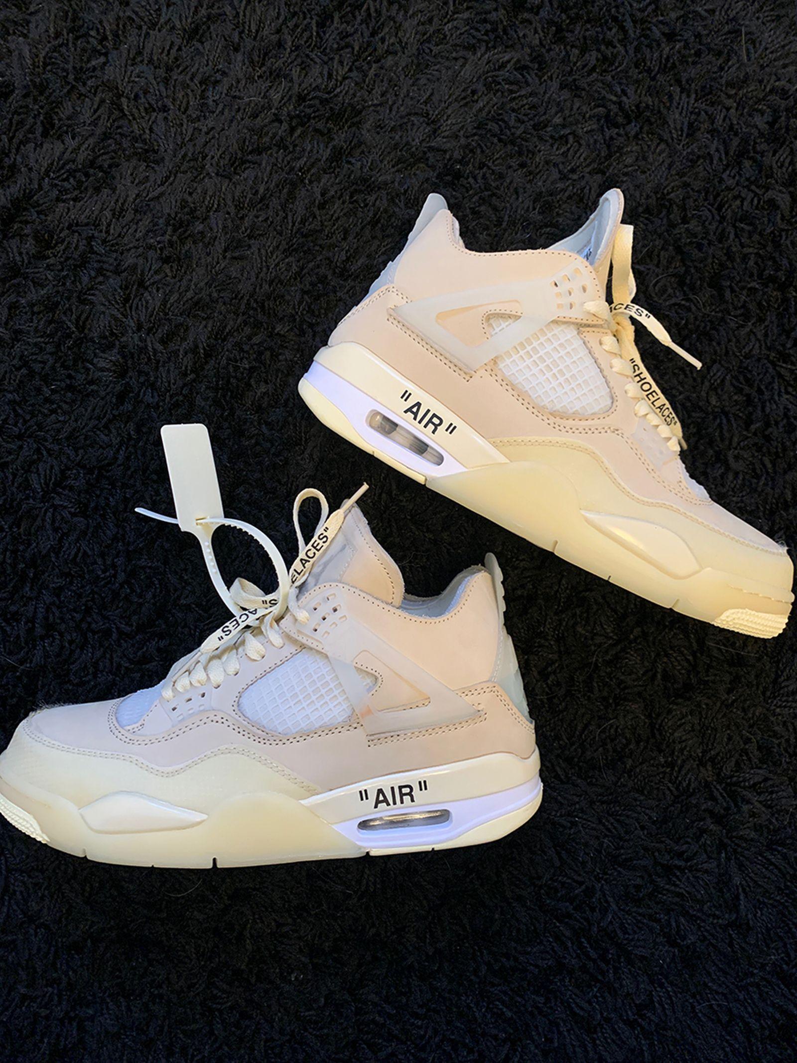 """Off-White™ x Air Jordan 4 """"Sail"""""""