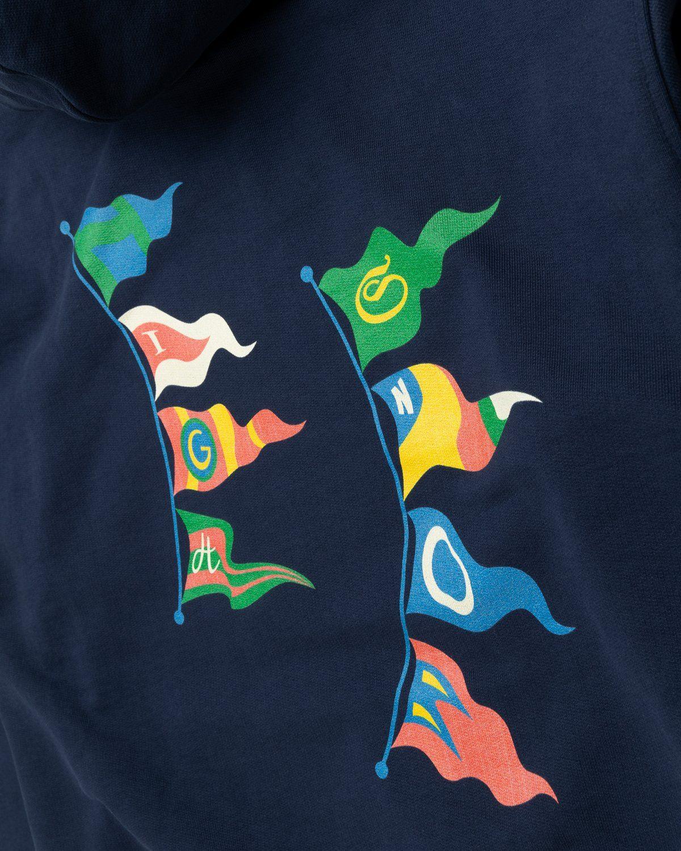 Highsnobiety – Flags Hoodie Navy - Image 4
