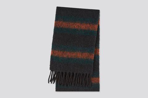Brushed Wool-Blend Scarf
