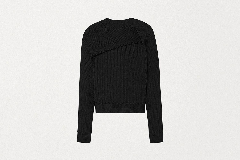 Pullover in Technical Nylon Rib