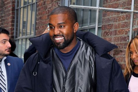 Kanye West smiling in New York city