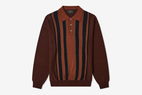 9G Knit Polo Stripe Shirt