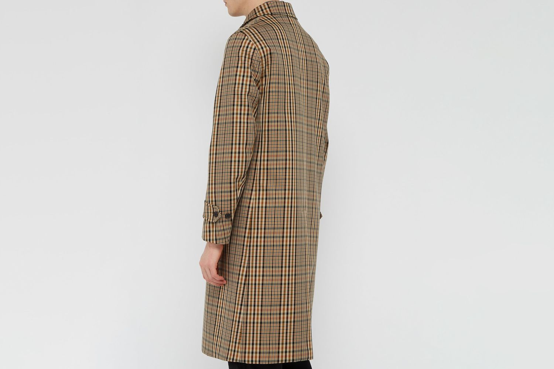 Lenthorne Checked Twill Overcoat