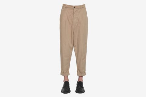 Baggy Cotton Gabardine Pants