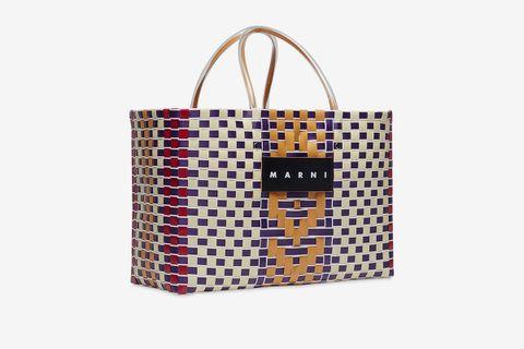 Medium Leather & Techno Basket