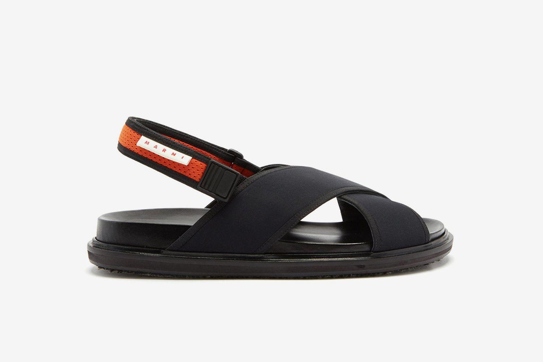 Fussbett Technical-Canvas Sandals