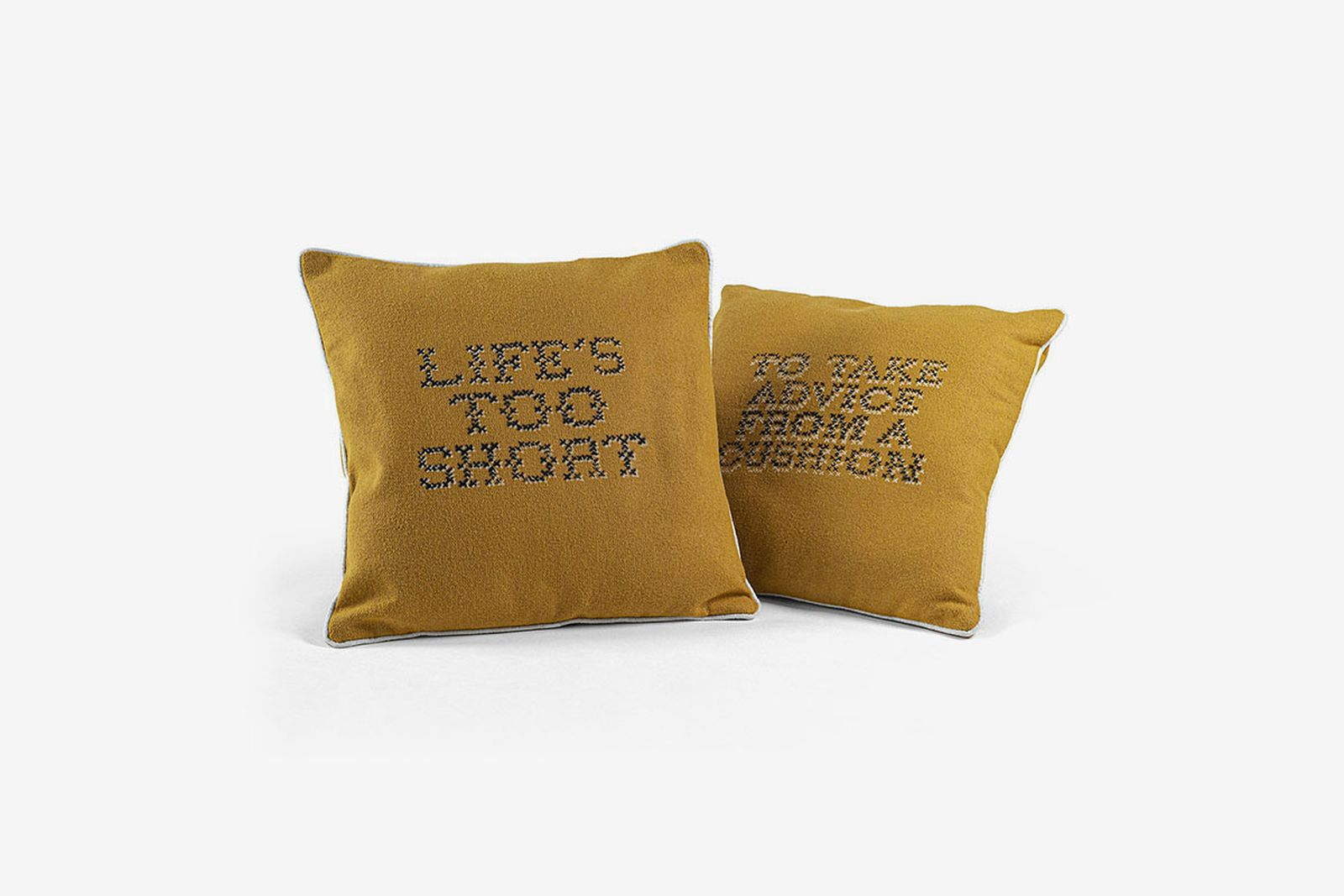 Banksy Gross Domestic Product cushions