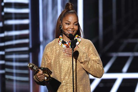 Janet Jackson accepts the Icon Award onstage during the 2018 Billboard Music Awards