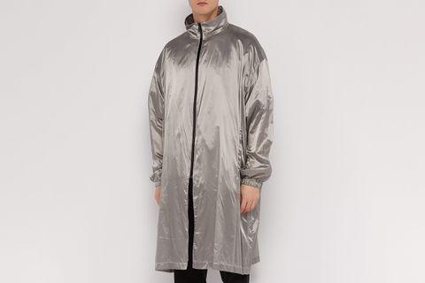 T-Shirt-Lined Metallic Raincoat