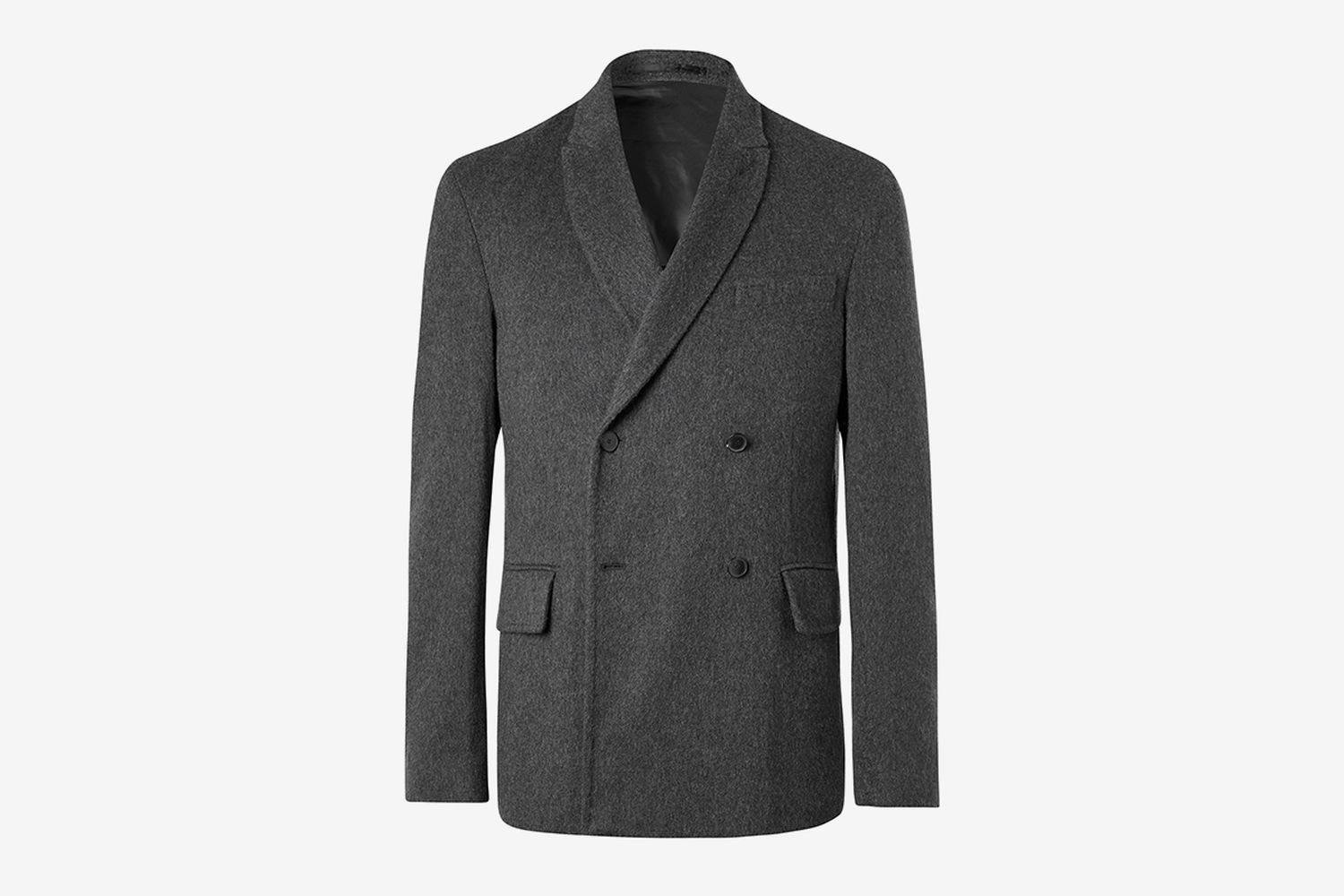 Double-Breasted Unstructured Cashmere Blazer