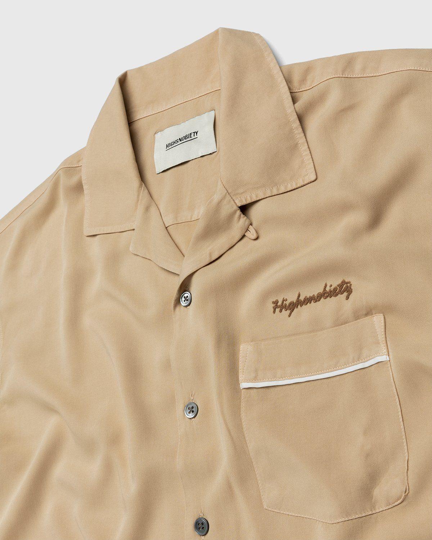 Highsnobiety – Bowling Shirt Beige - Image 3