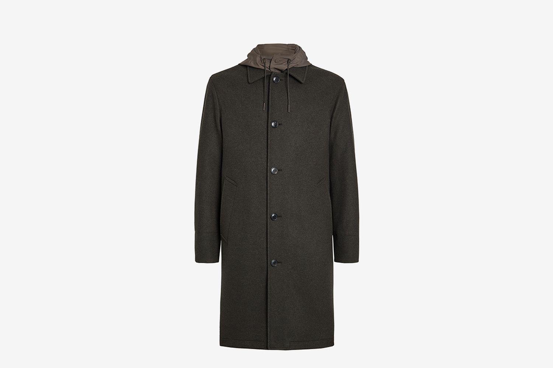 ERMENEGILDO ZEGNA Wool And Cashmere Jersey Coat