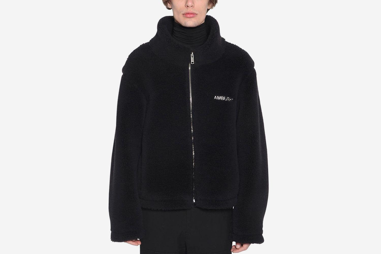 High Collar Zip Up Jacket