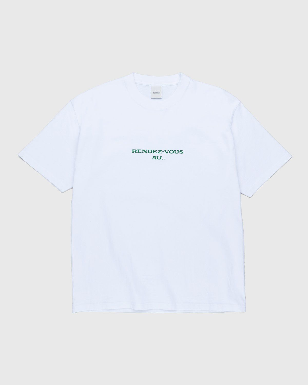 Highsnobiety — Not In Paris 3 x Café De Flore T-Shirt White - Image 1