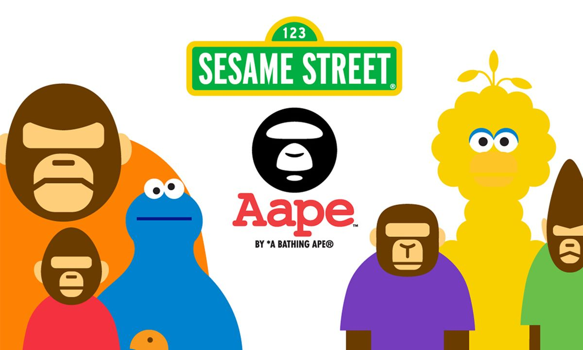 The AAPE x Sesame Street Drop Will Satisfy Your Inner Child