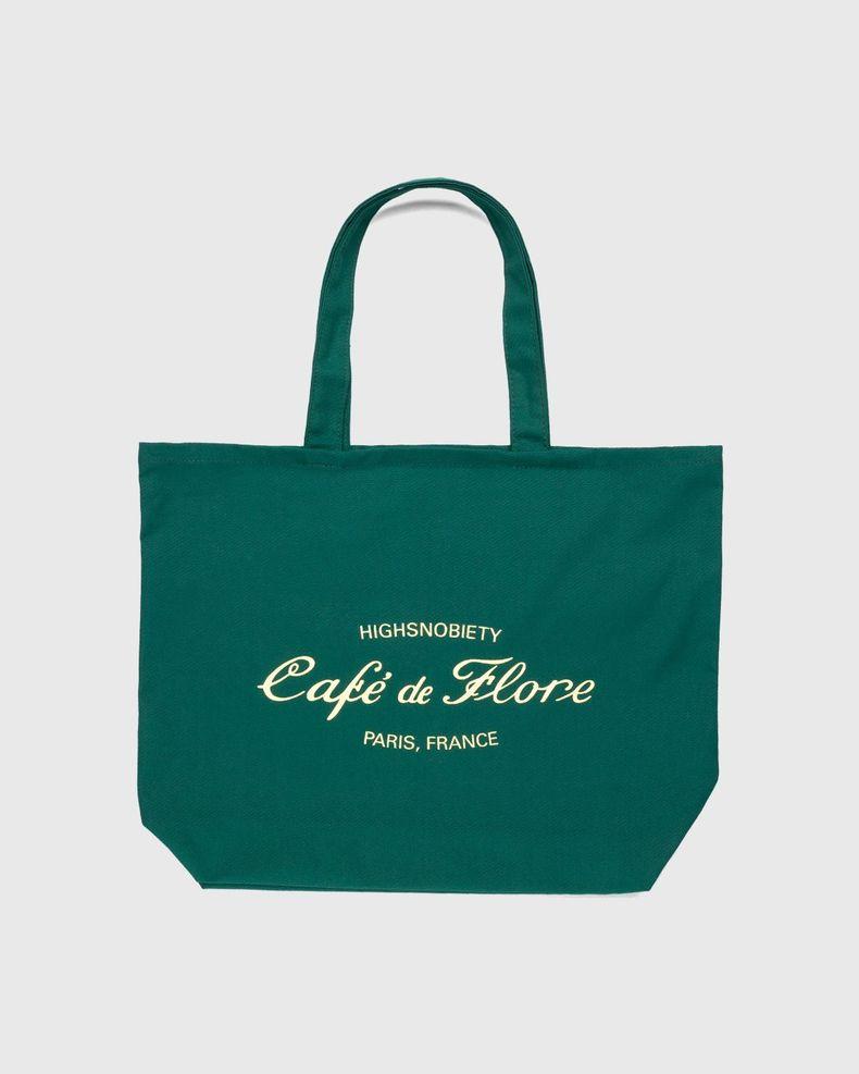 Highsnobiety — Not In Paris 3 x Café De Flore Tote Bag Green