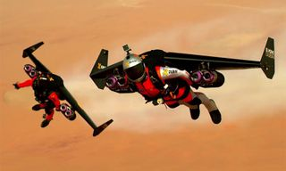 Watch 2 Men Equipped With Jetpacks Fly Over Dubai