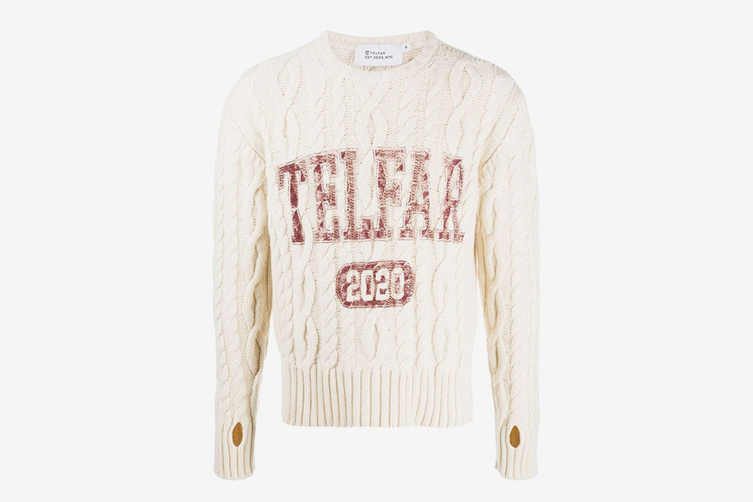 Cable Knit Logo Jumper