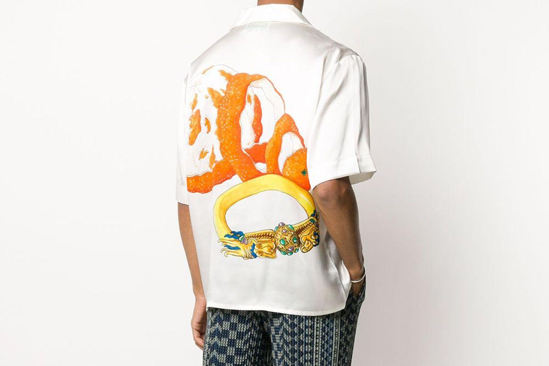 Orange Et Or Short-Sleeved Shirt
