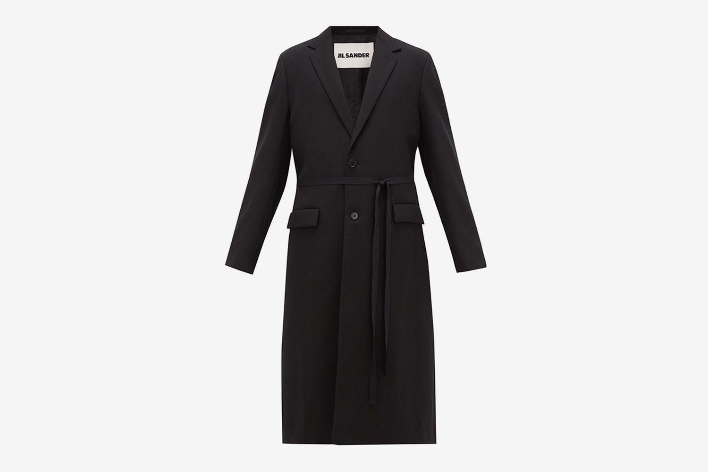 Alan Single-Breasted Wool-Twill Coat