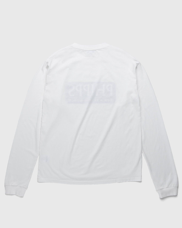 PHIPPS – Logo Longsleeve White - Image 2