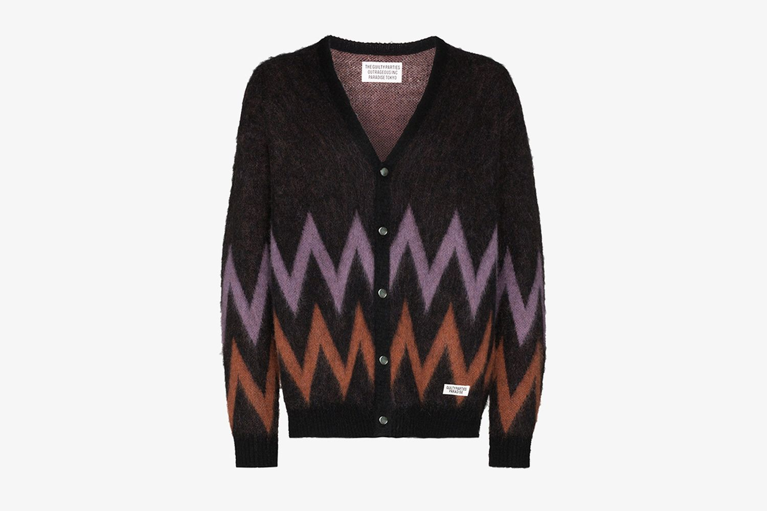 Zigzag Knitted Cardigan