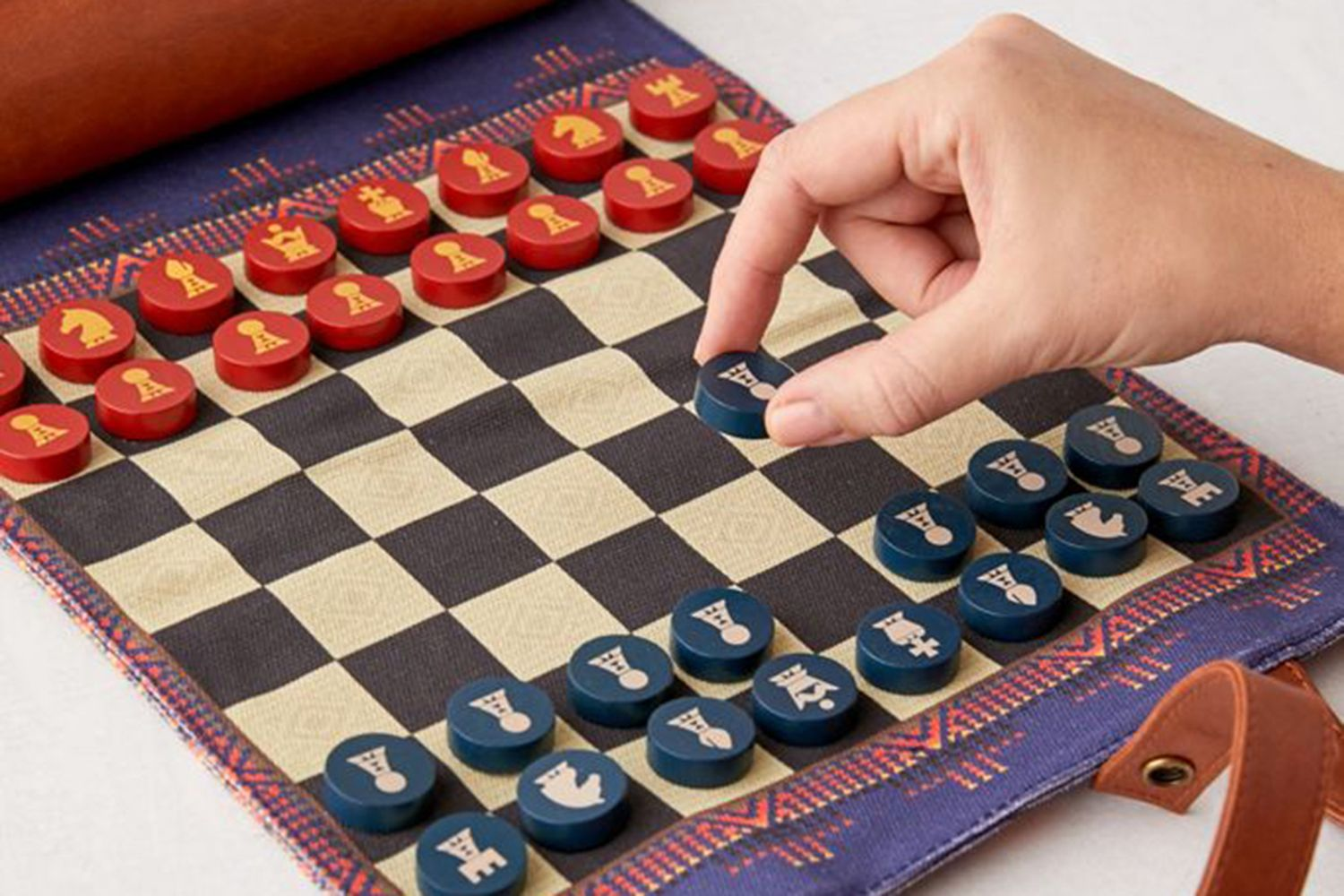 Roll-Up Chess And Checkers Set