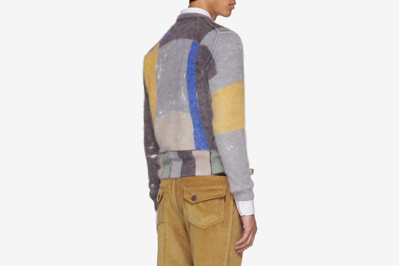 Angora Book Print Sweater