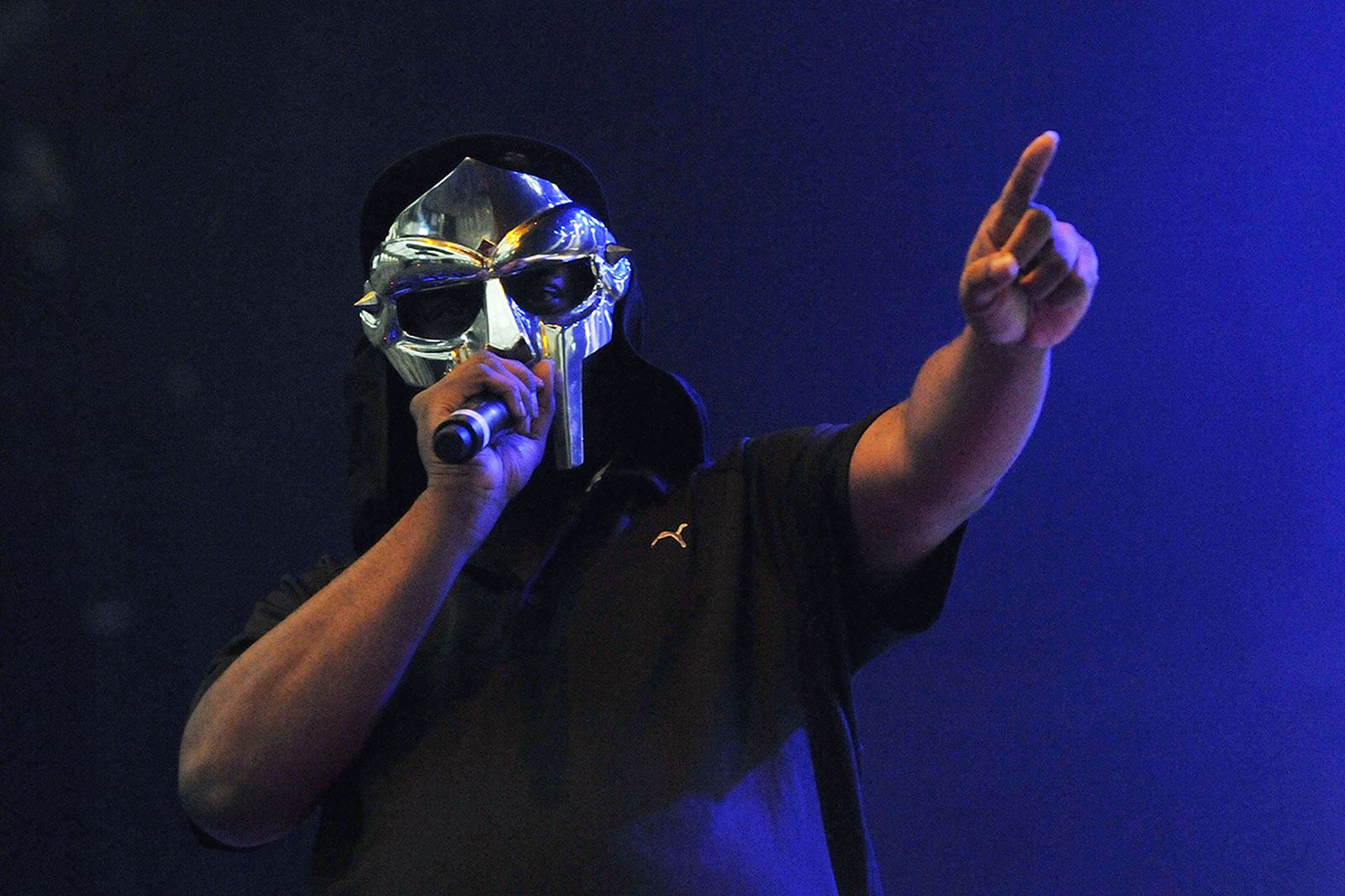 MF Doom performs live on stage