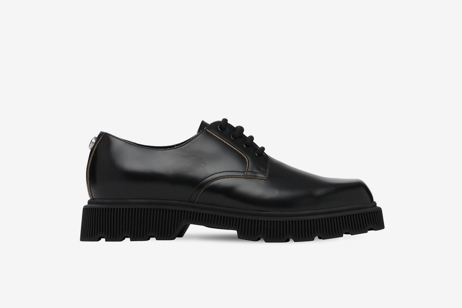 GG Metal Leather Combat Lace-Up Shoes