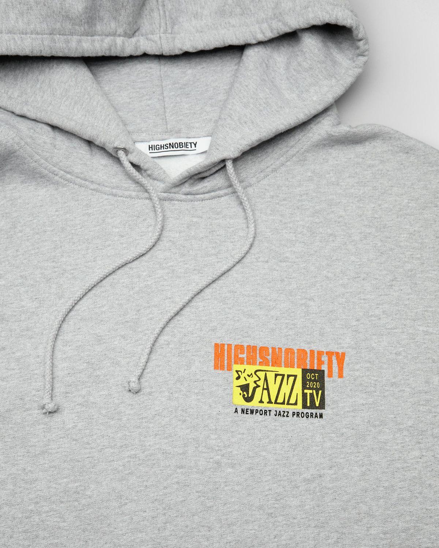 Newport Jazz Logo - Hoodie Grey - Image 3