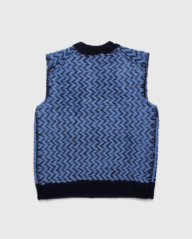 Jil Sander – Vest Kitted Blue - Image 2