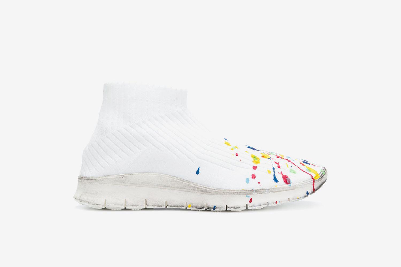 Paint Splatter Sock Sneaker