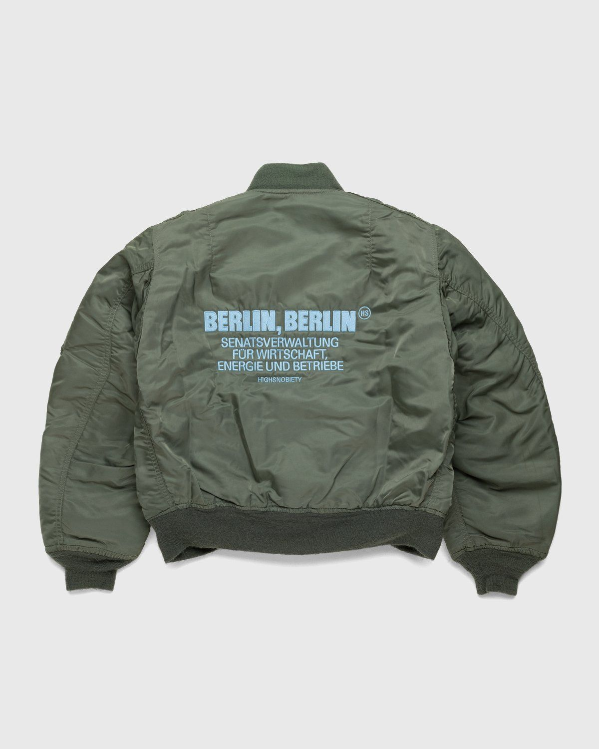 Highsnobiety – Berlin Berlin Embroidered Vintage MA-1 Green - Image 1