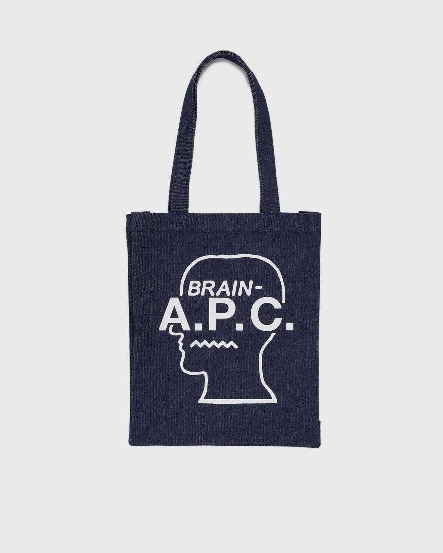 A.P.C. x BRAIN DEAD Tote Bag White - Image 1