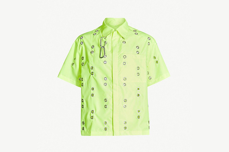 Eyelet Embellished Shirt